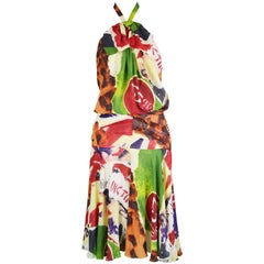 Christian Dior by John Galliano Iconic 'Fashion Victim' Silk Dress, S/S 2003