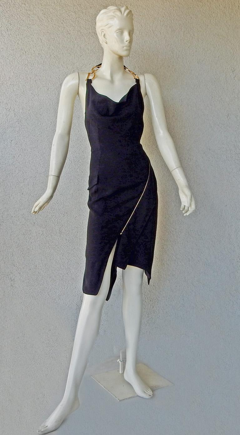 Gray Christian Dior by John Galliano Iconic Runway Assymetric Dress w/ Logo Letters For Sale