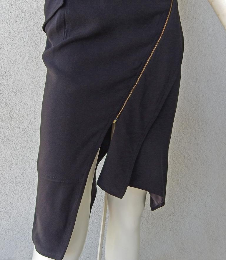 Women's Christian Dior by John Galliano Iconic Runway Assymetric Dress w/ Logo Letters For Sale