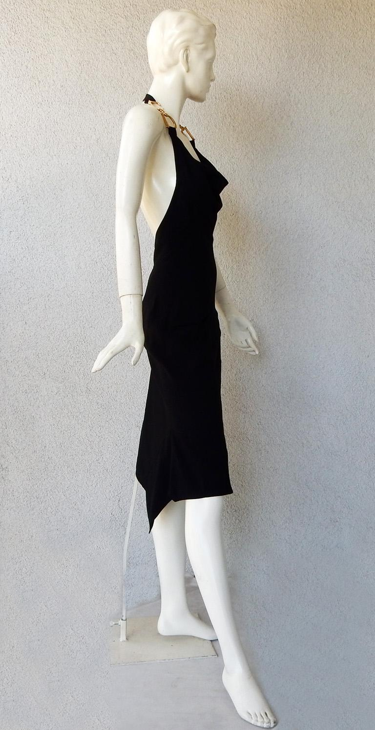 Christian Dior by John Galliano Iconic Runway Assymetric Dress w/ Logo Letters For Sale 1