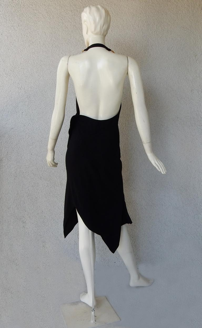 Christian Dior by John Galliano Iconic Runway Assymetric Dress w/ Logo Letters For Sale 2