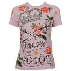 Christian Dior by John Galliano J'adore Dior Embellished Crown and Swords Top