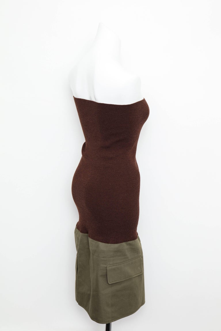 Women's Christian Dior by John Galliano Knit Tube Dress For Sale