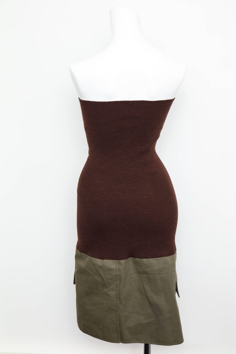 Christian Dior by John Galliano Knit Tube Dress For Sale 1