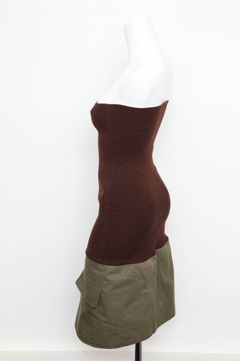 Christian Dior by John Galliano Knit Tube Dress For Sale 2