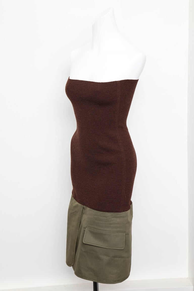 Christian Dior by John Galliano Knit Tube Dress For Sale 3