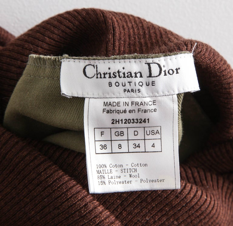 Christian Dior by John Galliano Knit Tube Dress For Sale 4