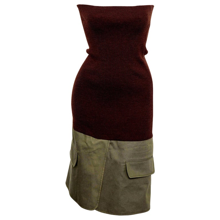 Christian Dior by John Galliano Knit Tube Dress For Sale
