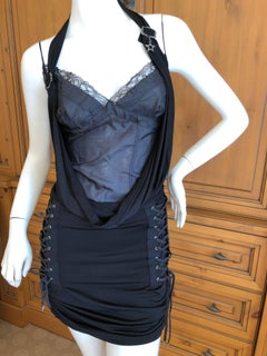 Christian Dior by John Galliano Lingerie Inspired Corset Laced Cocktail Dress