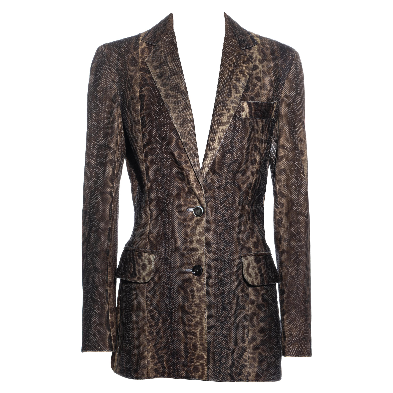 Christian Dior by John Galliano lizard skin blazer jacket, fw 2002