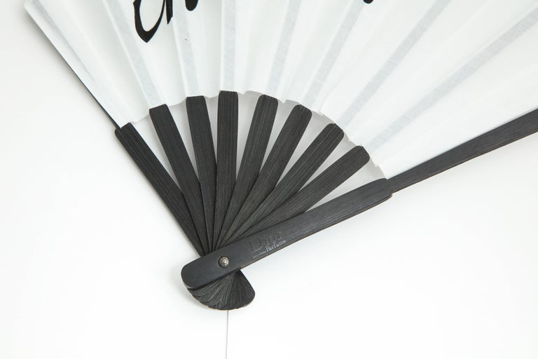 Christian Dior by John Galliano Logo Fan  In New Condition For Sale In Chicago, IL