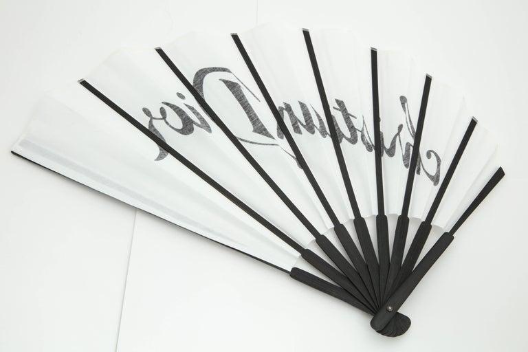 Women's or Men's Christian Dior by John Galliano Logo Fan  For Sale