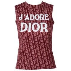 Christian Dior By John Galliano Logo T-Shirt Top, Spring-Summer 2002