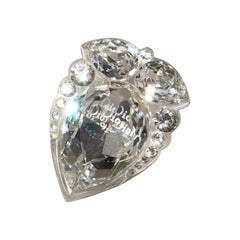 Christian Dior by John Galliano Lucite Crystal Cocktail Ring