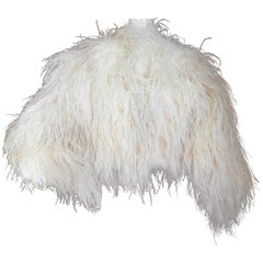 Christian Dior by John Galliano Maison Lemarie Ostrich Plume Silk Jacket