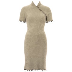 Christian Dior by John Galliano mint Angora cheongsam style dress, fw 1997