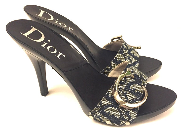 - Never been worn and rare Christian Dior by John Galliano monogram denim silver toned