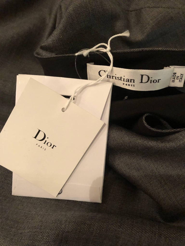 Christian Dior by John Galliano Size 10 / 42 Lightweight Wool Avant Garde Dress For Sale 5