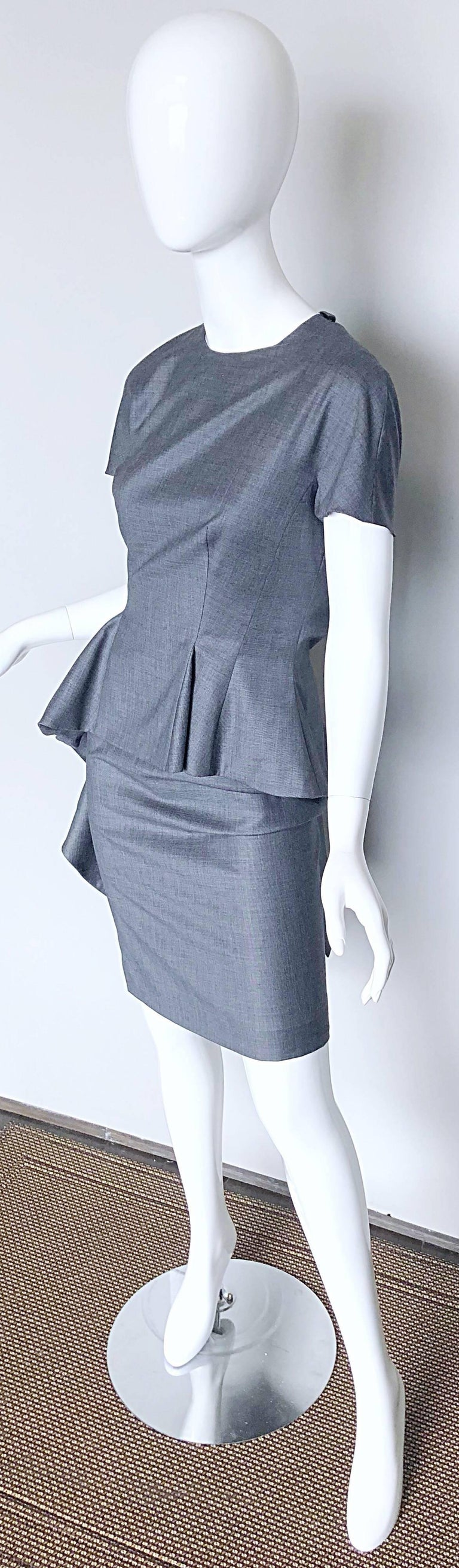 Women's Christian Dior by John Galliano Size 10 / 42 Lightweight Wool Avant Garde Dress For Sale