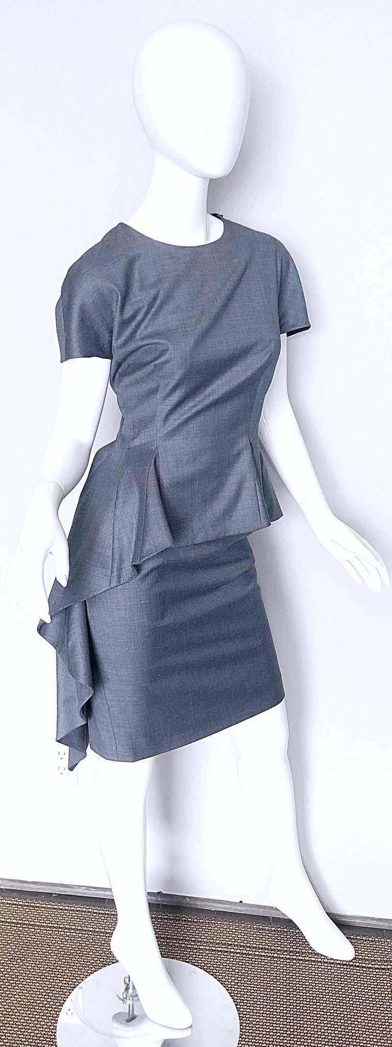 Christian Dior by John Galliano Size 10 / 42 Lightweight Wool Avant Garde Dress For Sale 1