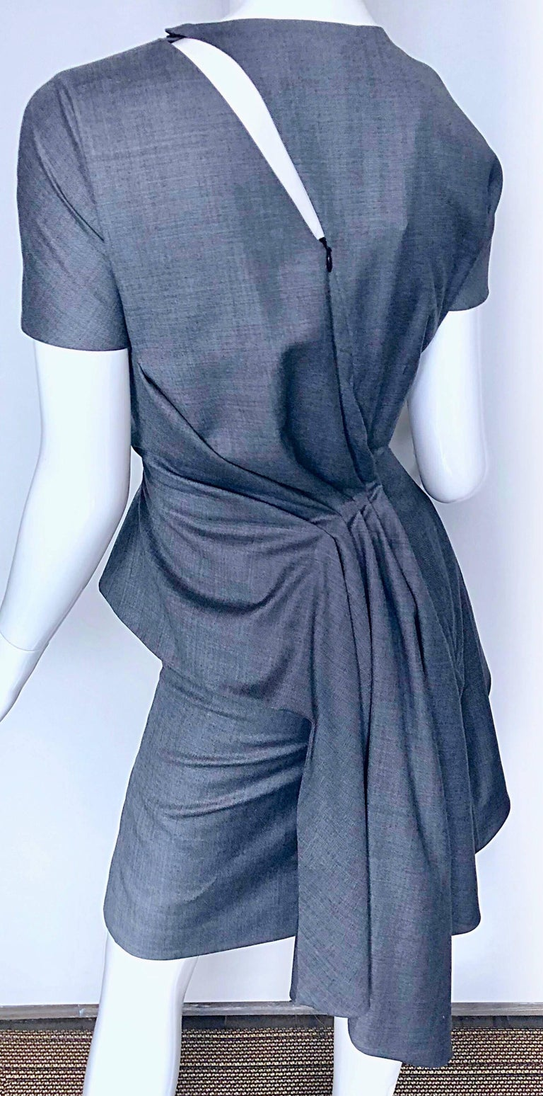 Christian Dior by John Galliano Size 10 / 42 Lightweight Wool Avant Garde Dress For Sale 3