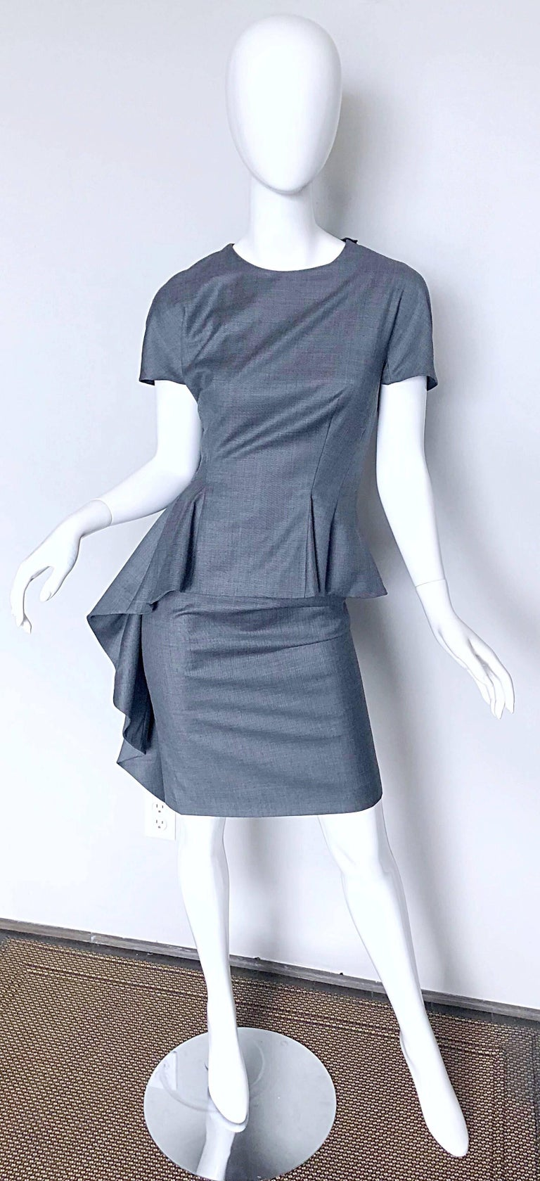 Christian Dior by John Galliano Size 10 / 42 Lightweight Wool Avant Garde Dress For Sale 4