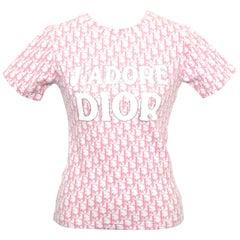 Christian Dior by John Galliano Pink Trotter Logo Shirt