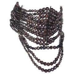 Christian Dior by John Galliano purple bead masai choker necklace, ss 1998