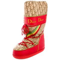 Christian Dior by John Galliano Rasta Diorissimo Logo Moon Snow Boots