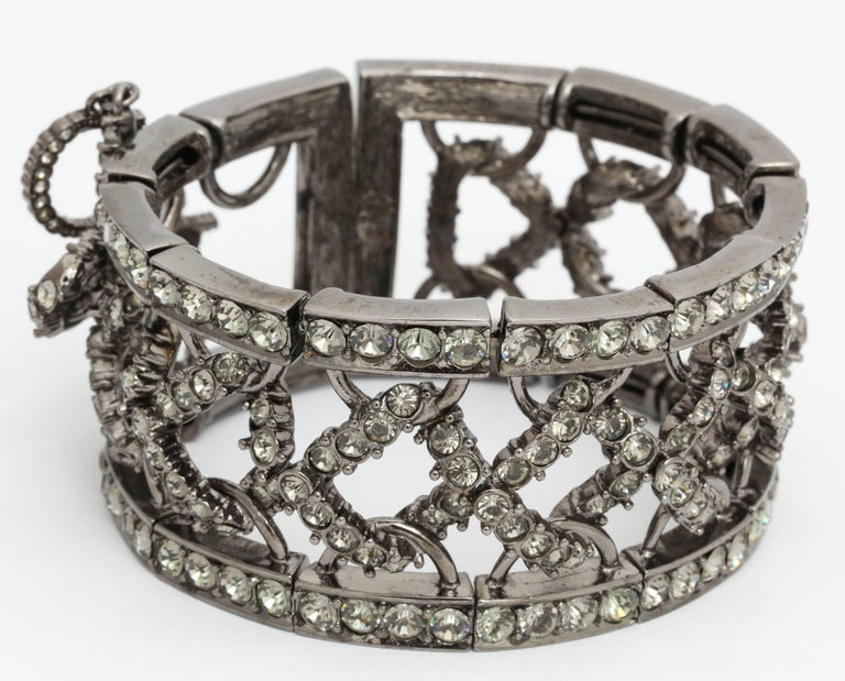 Christian Dior by John Galliano Rhinestone Bangle with Bow 3