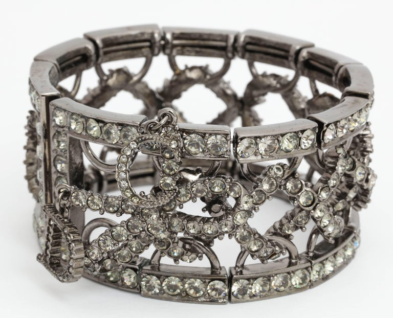Christian Dior by John Galliano Rhinestone Bangle with Bow 4