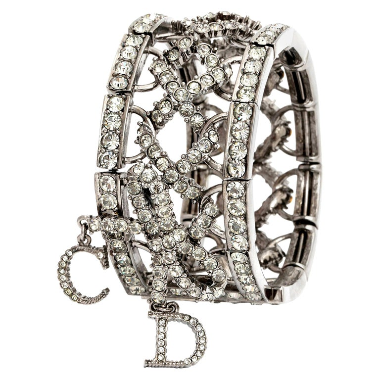 Christian Dior by John Galliano Rhinestone Bangle with Bow