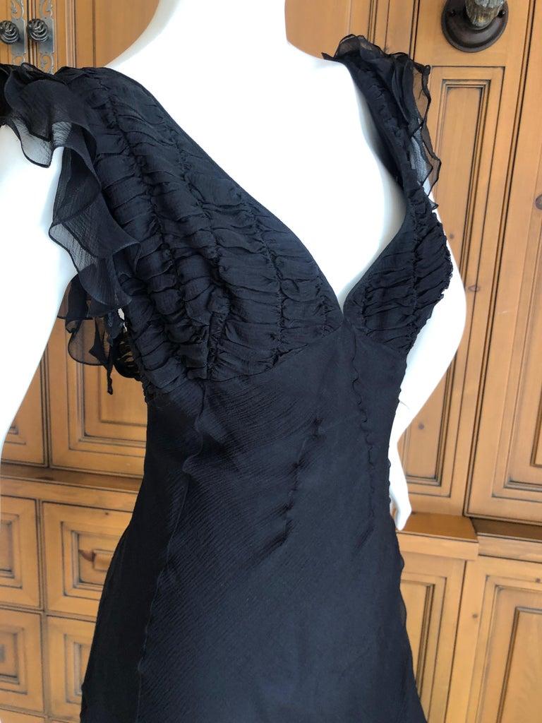 Christian Dior by John Galliano Seductive Low Cut Bias Cut Black Silk Dress For Sale 2