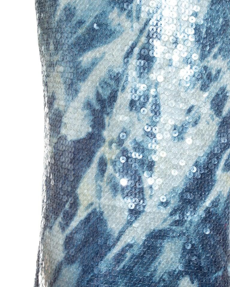 Women's Christian Dior by John Galliano sequin denim affect evening dress, fw 2000 For Sale