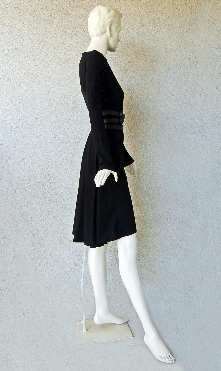 Christian Dior by John Galliano Sheath w/3 Wrap Belts & Bustle Dress In Excellent Condition For Sale In Los Angeles, CA