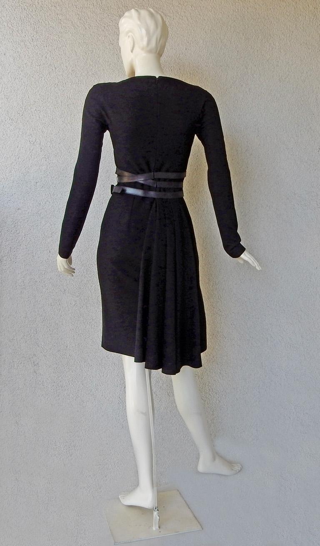 Women's Christian Dior by John Galliano Sheath w/3 Wrap Belts & Bustle Dress For Sale