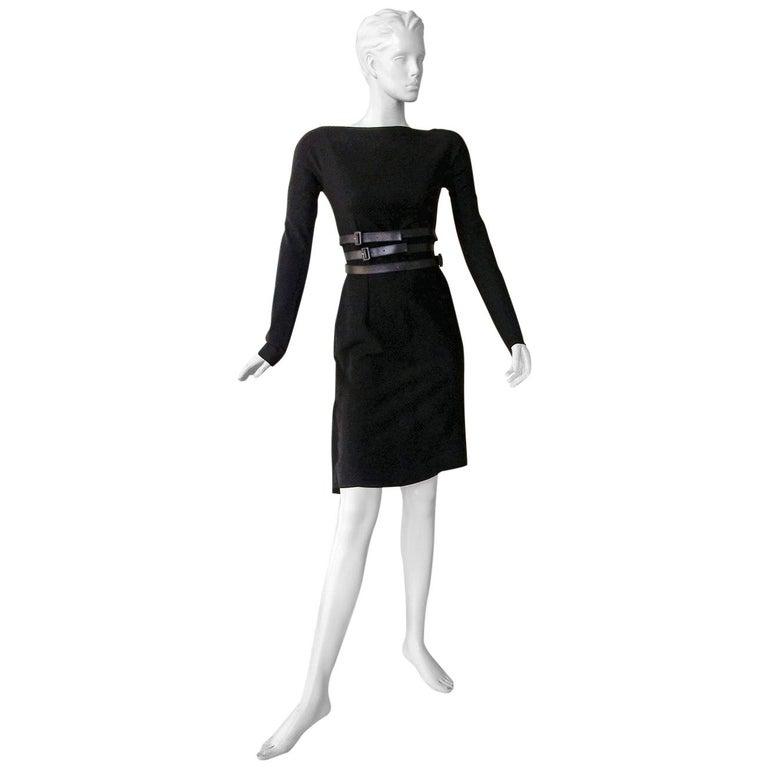 Christian Dior by John Galliano Sheath w/3 Wrap Belts & Bustle Dress For Sale