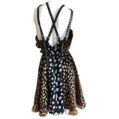 Christian Dior by John Galliano SS 2009 Silk Dress with Leather Harness Straps