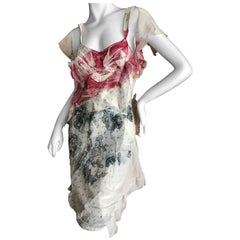 "Christian Dior by John Galliano Spring 2006 Silk Mousseline ""Bloody"" Lace Dress"