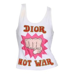 "Christian Dior by John Galliano Spring/Summer 2005 ""Dior Not War"" Tank Top"