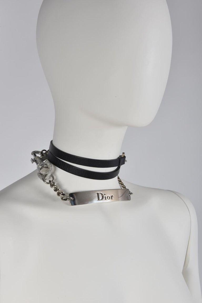 Christian Dior By John Galliano Strass Pave Snap Hook Belt, Spring-Summer 2003 For Sale 4