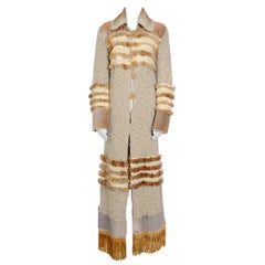 Christian Dior by John Galliano vintage fall 2000 yak cashmere knit and fur coat