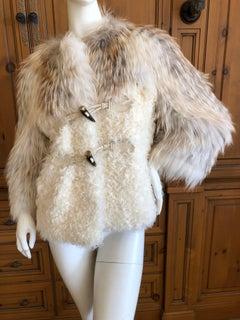 Christian Dior by John Galliano Vintage Fox and Lamb Fur Toggle Jacket