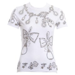 Christian Dior by John Galliano white cotton jewelled t-shirt, fw 2002