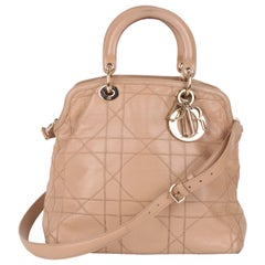 Christian Dior Cannage Lady Dior Granville Leather Tote Bag