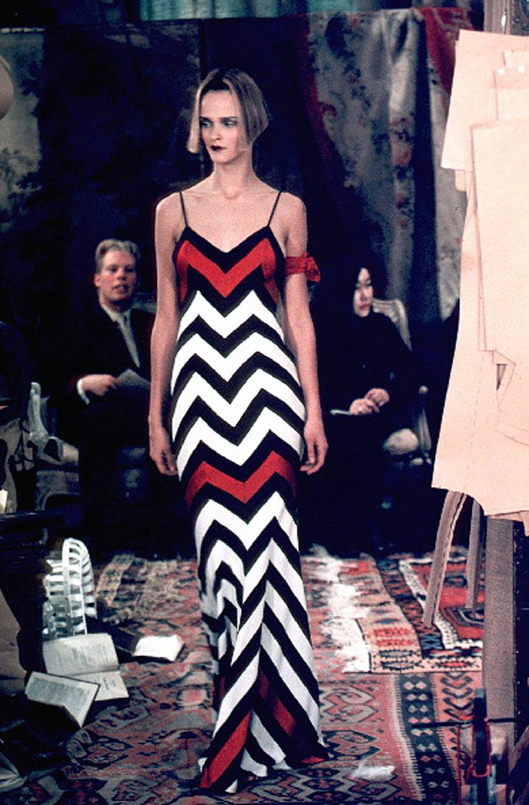 Christian Dior Chevron Pattern Evening Ensemble Inspired by 1950 Dior Collection For Sale 1