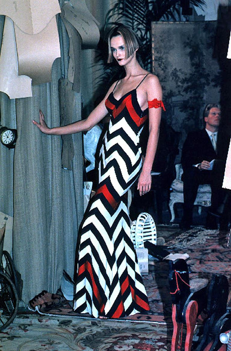 Christian Dior Chevron Pattern Evening Ensemble Inspired by 1950 Dior Collection For Sale 2