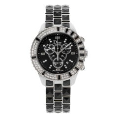 Christian Dior Christal Black Diamonds Ceramic Steel Unisex Watch CD11431CM001