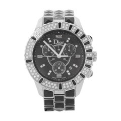 Christian Dior Christal Black Diamonds Ceramic Steel Unisex Watch CD11431CM001