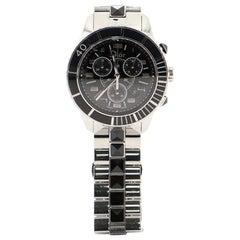 Christian Dior Christal Chronograph Quartz Watch Stainless Steel 38